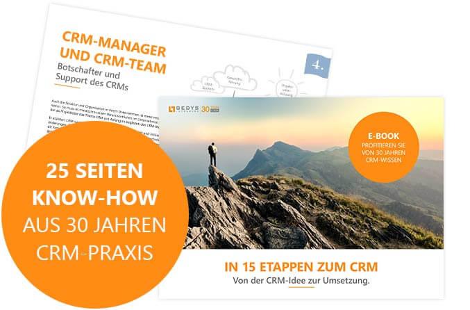 Seiten aus E-Book: In 15 Etappen zum CRM