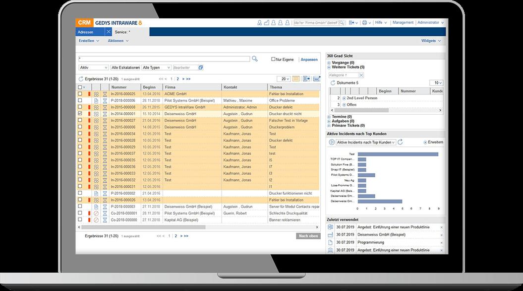 CRM für Service und IT: Alle Informationen zum Kunden
