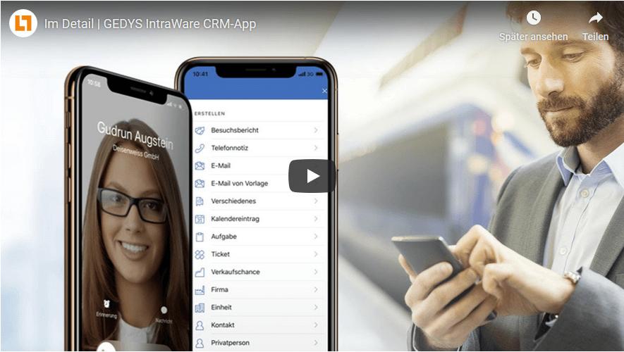 Video: goMobile CRM App - im Detail von GEDYS IntraWare