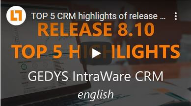 Video TOP 5 Highlights Release GEDYS IntraWare 8.10 in english
