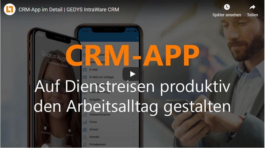 Video: CRM-App im Detail | GEDYS IntraWare CRM