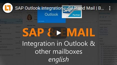 Video: SAP Outlook Integration – SAP and Mail | BusinessMail4SAP® | english
