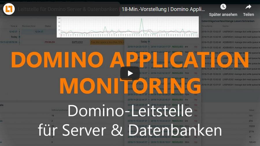 Video: Leitstelle für Domino Server & Datenbanken | 18-Min.-Vorstellung | Domino Application Monitoring