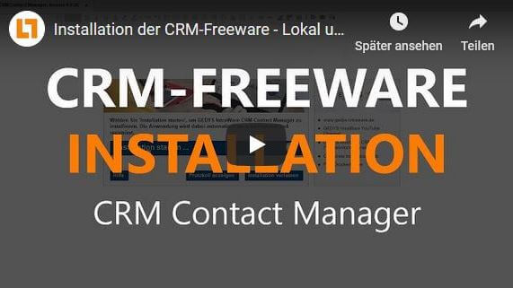 Video CRM-Freeware Installation