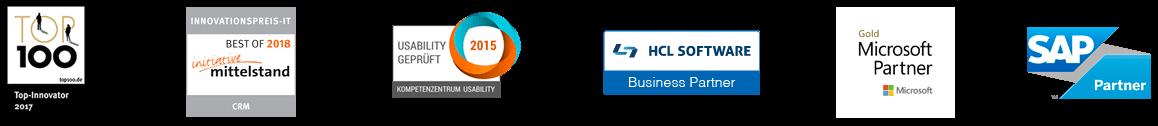 GEDYS IntraWare Award- und Partner-Logos