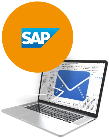 SAP-und-E-Mail: Grafik zu BusinessMail4SAP, GEDYS IntraWare
