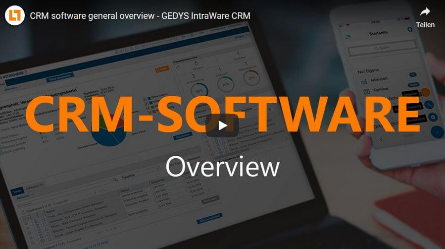Video: CRM software general overview - GEDYS IntraWare CRM