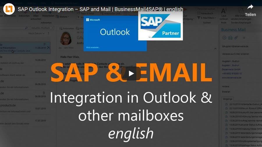 Video: SAP Outlook Integration – SAP und Mail | BusinessMail4SAP®