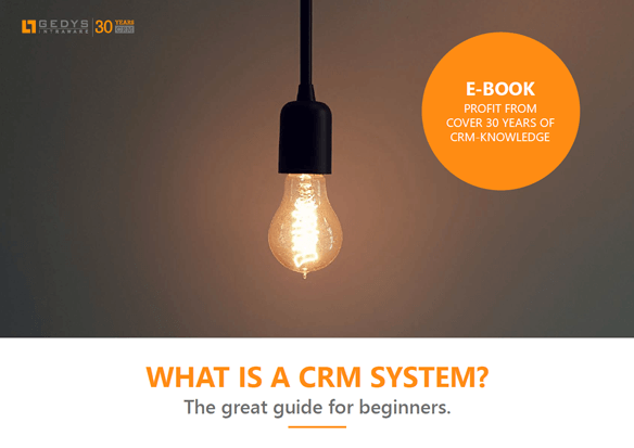 """Title image to e-book """"What is a CRM system"""" from GEDYS IntraWare"""