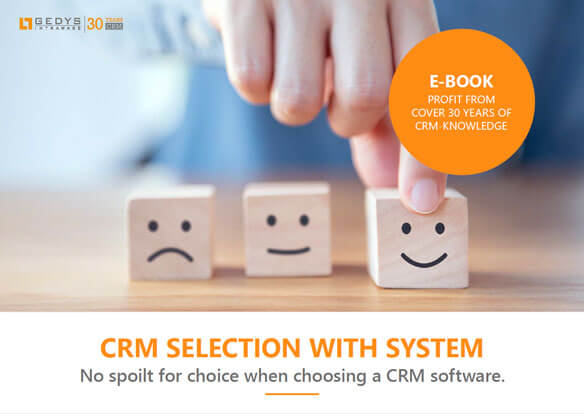"Title to the e-book ""CRM selection with system"" from GEDYS IntraWare"