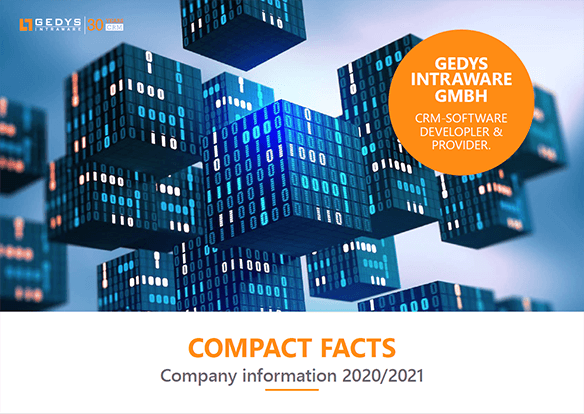 """Titlepage to""""Compact Facts"""", company information from GEDYS IntraWare"""