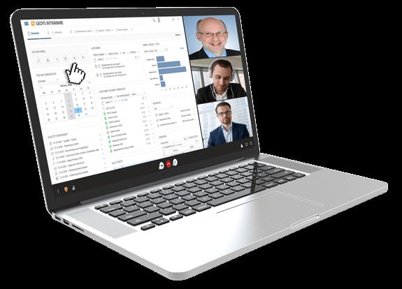 Live-Video-Präsentation der CRM-Software von GEDYS-IntraWare