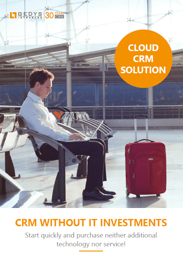 CRM Hosting Germany: Cloud CRM Brochure from GEDYS-IntraWare