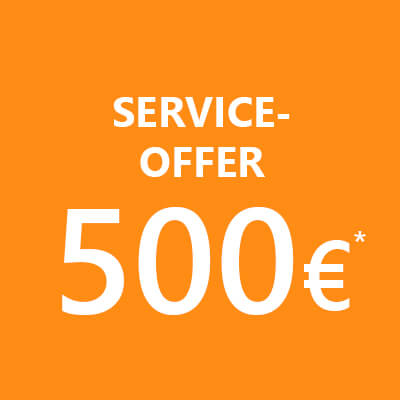 Application monitoring: service offer in orange circle