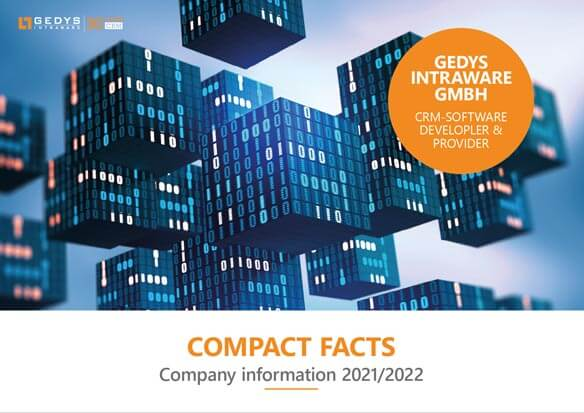"""Titlepage to """"Compact facts"""", information about GEDYS IntraWare"""