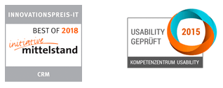 Innovationspreis 2018-Logo und Usability geprüft 2015-Logo von GEDYS IntraWare