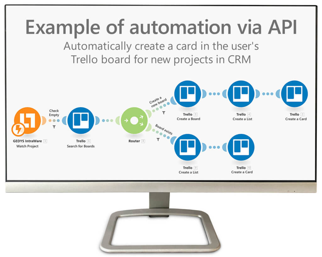 Release 8.12 with API optimzization for Integromat: example for automation via API